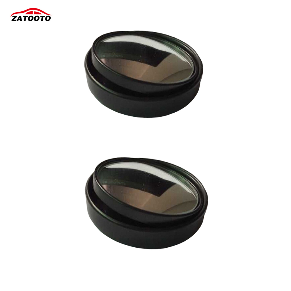 2 Pcs Car Blind Spot Mirrors Round Wide Angle Convex