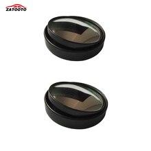 2 шт. автомобиль слепое пятно Зеркала круглый Широкий формат выпуклый регулируемый угол палку на Зеркало заднего вида сбоку