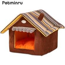 Petminru полосатый съемный коврик для собак домик кровати маленьких