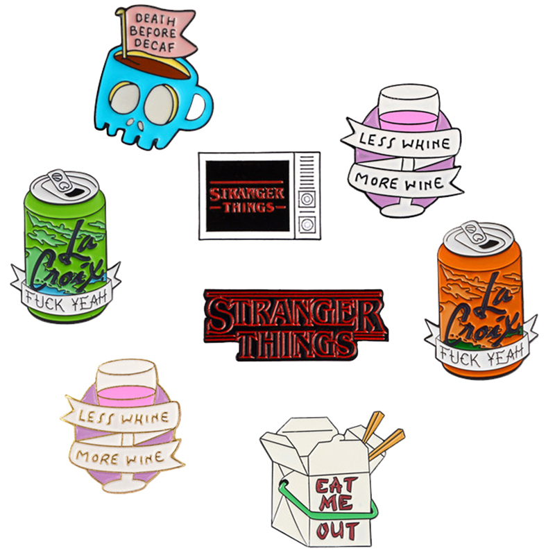 """Many Quality Products Pin""""Stranger Things Fxxk Yeah""""TV"""