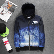 Saint Spell Camouflage Printed Letters 3D Graphic Hoody Coat Fashion Cotton Jacket Thicker Outerwear Zipper Tops Outfits Homme
