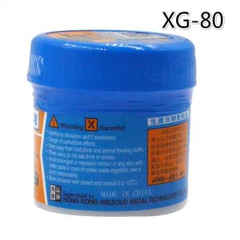 60g XG-80 Soldering Paste Flux Solder Tin Sn63/Pb67 For Hakko 936 TS100 852D++ Soldering iron Circuit Board SMT SMD Repair Tools