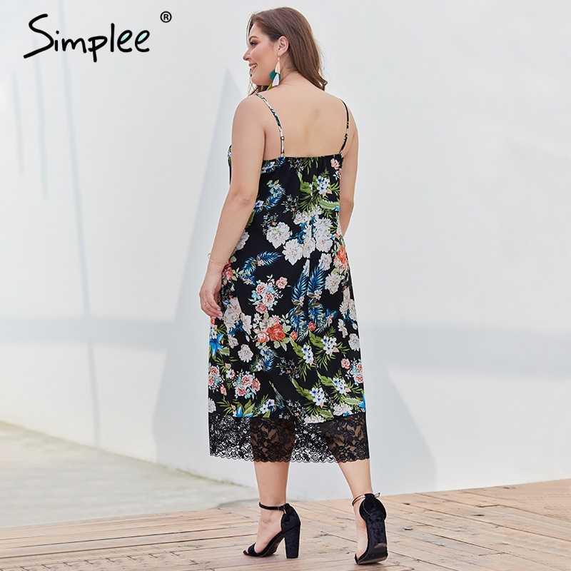 Просто, элегантно кружевное черное Цветочное платье большого размера женское платье с v-образным вырезом на бретельках длинное сексуальное летнее платье для отдыха