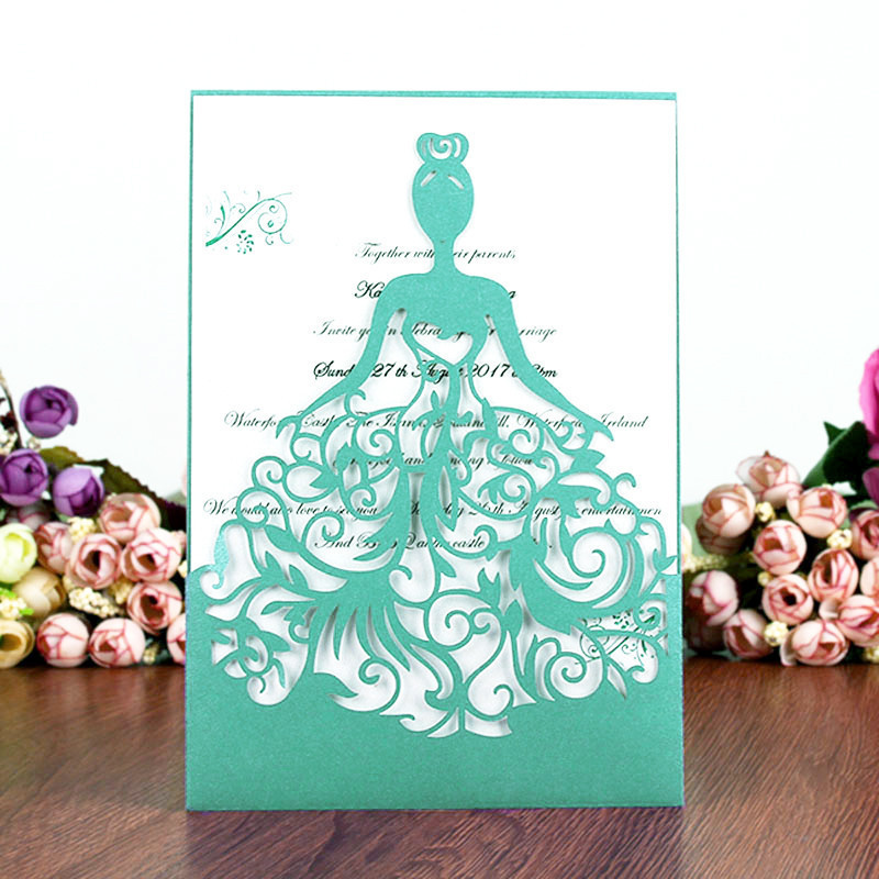 10PCS New arrival Christmas Invitations Cards Delicate Carved Invitation Cards postcard for Wedding Party Xmas home Decoration 30pcs in one postcard take a walk on the go dubai arab emirates christmas postcards greeting birthday message cards 10 2x14 2cm