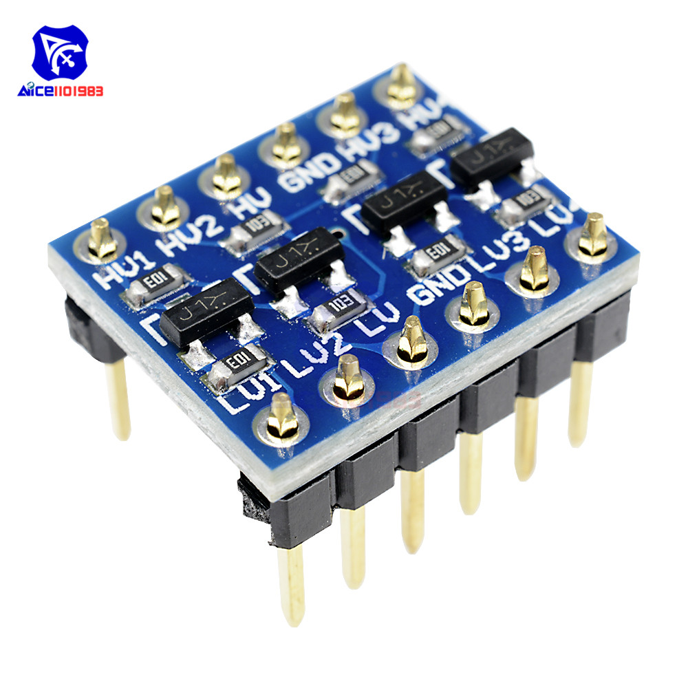 10PCS IIC I2C Logic Level Converter Bi-Directional Board Module 5V 3.3V DC Module for Arduino with Pins High Low Voltage DIY Kit image