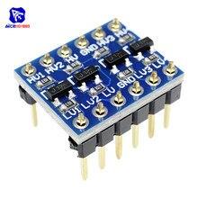 Diymore 10 adet IIC I2C mantık seviye dönüştürücü çift yönlü devre kartı modülü 5V 3.3V DC modülü Arduino için pimleri ile yüksek alçak gerilim