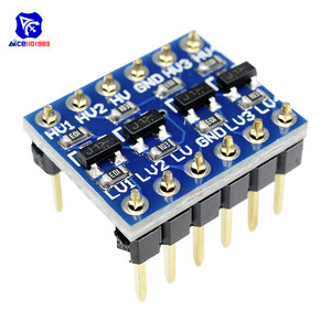 Image 1 - diymore 10PCS IIC I2C Logic Level Converter Bi Directional Board Module 5V 3.3V DC Module for Arduino with Pins High Low Voltage