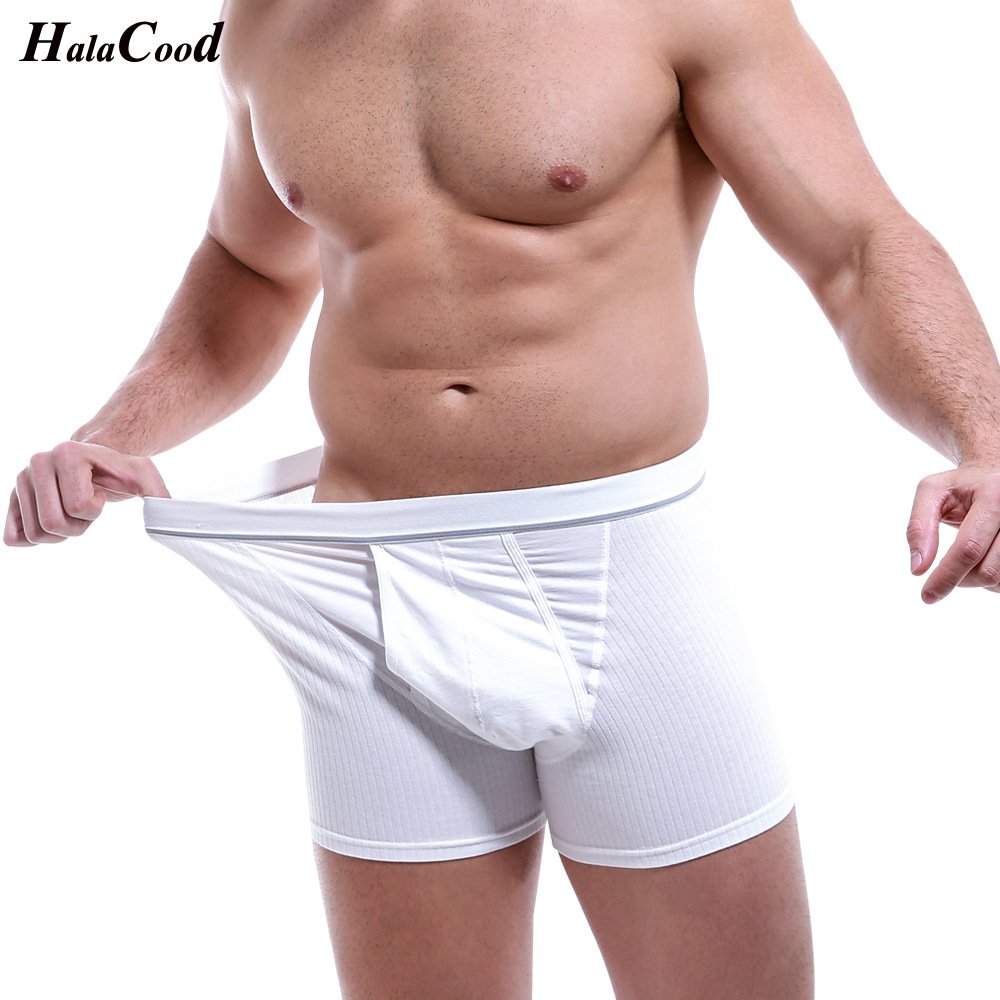 Top Brand Boxer Men Cuecas Cotton Underwear Male Underpants Man Boxer Shorts Homme Underpants Mens Large Size Long Boxers Men