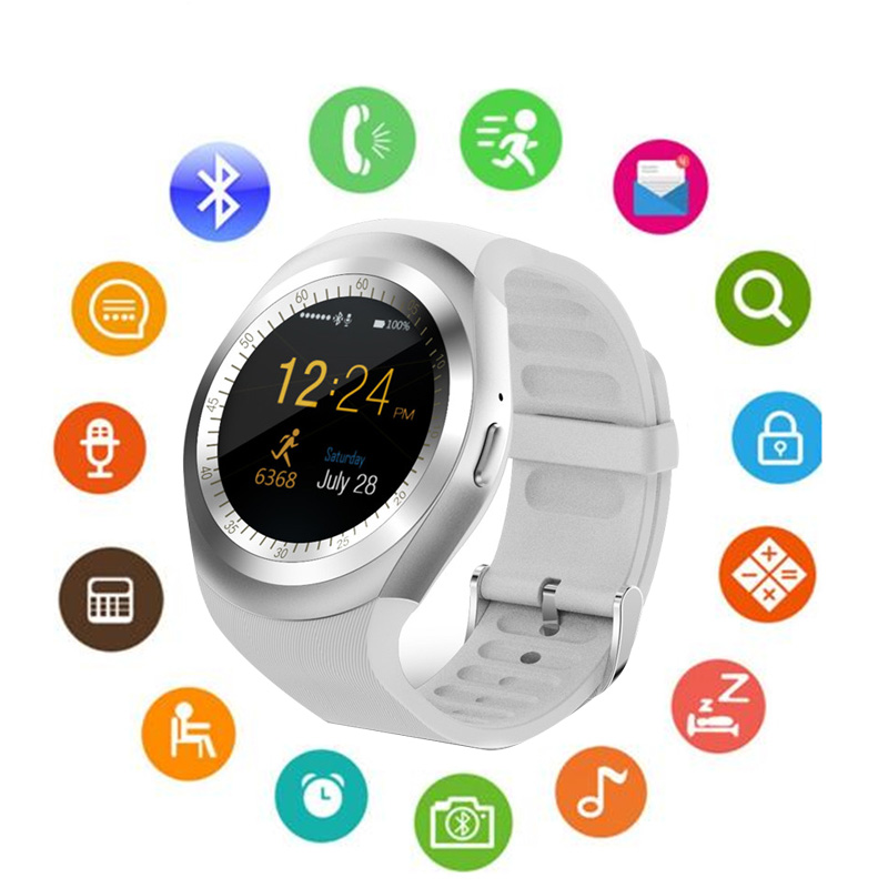 Luxury Brand Women Men Unisex Y1 Smart Watch With Whatsapp And Facebook Twitter APP For Android Smartwatch image