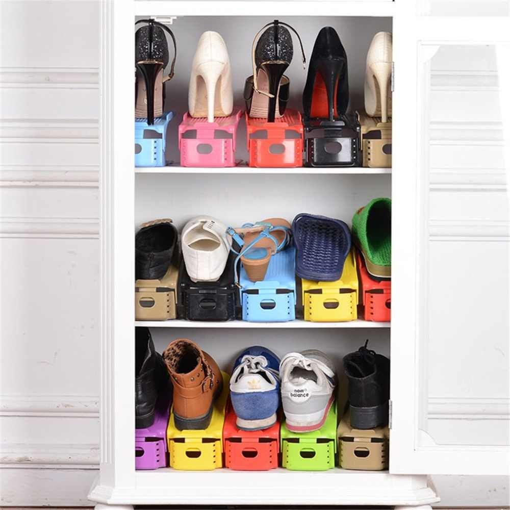 Popular Shoe Racks Modern Double Cleaning Storage Shoes Rack Living Room Convenient Shoebox Shoes Organizer Stand Shelf