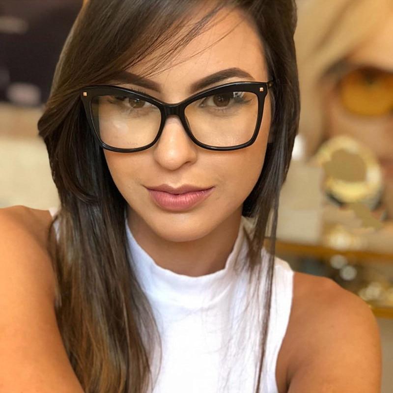 Fashion Woman Acetate Optical Eyeglasses Big Size Oversized Stylish Frame Spectacles for Women Prescription Glasses Frame Female
