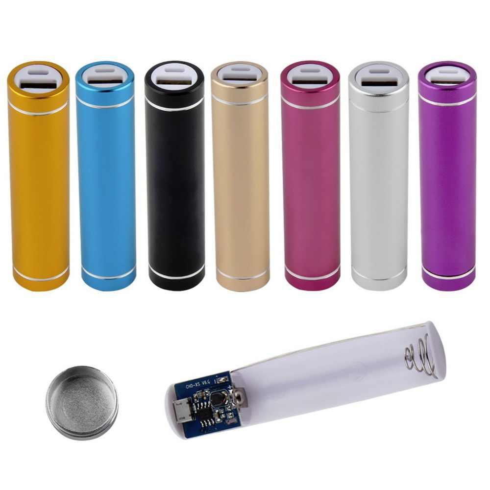 Taşınabilir mobil şarj cihazı taşınabilir güç kaynağı kılıfı 18650 Powerbank kutusu kabuk harici pil şarj cihazı kutusu