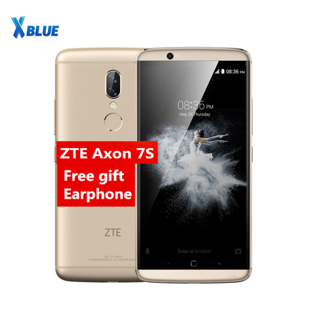 Original ZTE Axon7S A2018 axon 7s 5 5inch 2K Screen Dolby Sound HIFI 4GB RAM 128GB
