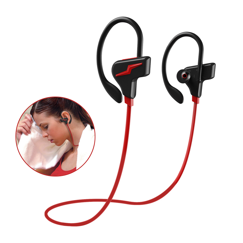 Sport Étanche Sans Fil Casque IPX4 Bluetooth Casque avec Micro Stéréo Hifi Écouteurs Antibruit Intra-auriculaires Écouteur