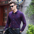 Super Warm business Men shirt 2016 winter new Fashion brand Chemise homme Casual long sleeve Slim Camisa Luxury male dress shirt