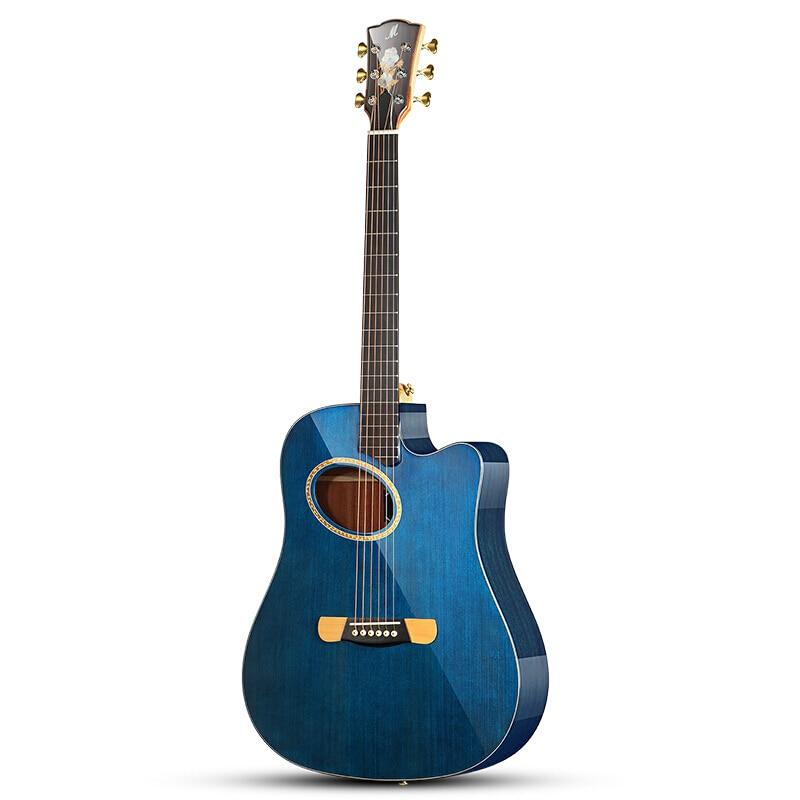 Cutaway solide Sitka bois d'amérique du sud haut et arrière andi côtés guitare acoustique 41 Guitarra