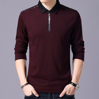 New Arrival High Quality 2017 Men Autumn Business Casual Slim T Shirt Male Classic Long Sleeve