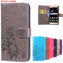 Cover Huawei P9 Lite Flip Case Luxury Retro PU Leather & Soft Silicone Wallet Flip Cover Case For Huawei P9 Lite / P9 Plus(China)