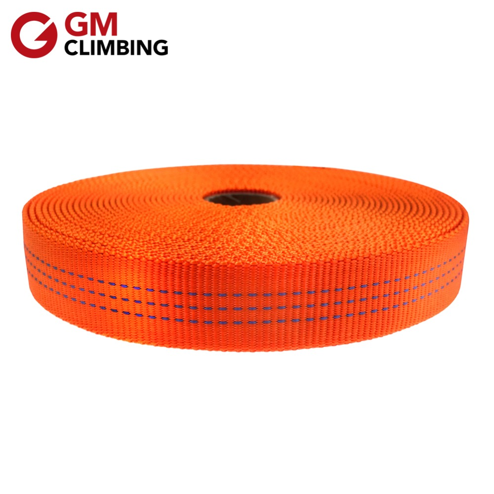 GM CLIMBING Sling Nylon 25mm 9m Tubular Webbing Strap Belt For Rock Climbing Rigging Anchoring Camping Rafting Equipment