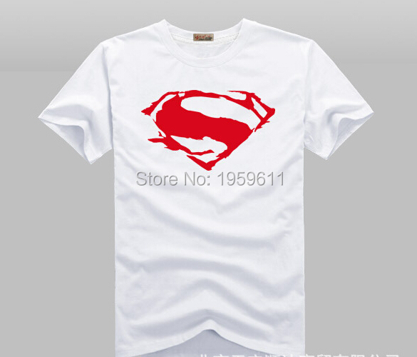 100% Cotton Superhero  Batman VS Superman T Shirts Men O Neck Short Sleeve Mens T-Shirt  Man tshirt Tops