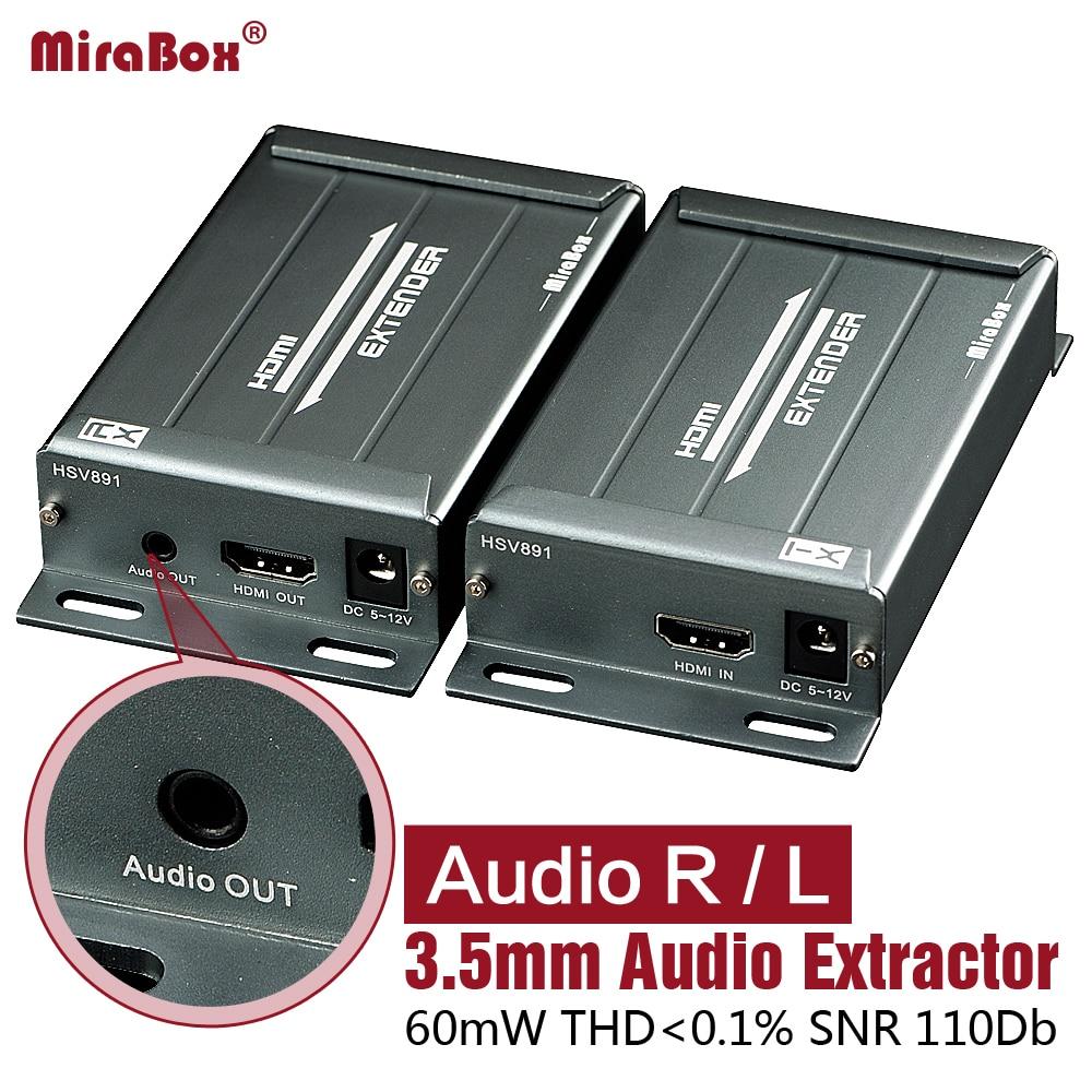 HSV891 1080 P HDMI Extender Ethernet avec extracteur Audio HDMI sur IP Extender par Rj45 Cat5/Cat5e/Cat6 UTP/STP 400ft câble LAN