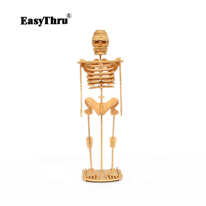 Artificial Skeleton Wooden Mannequin Toys 3D Human Body Model Assemble The  Puzzle By Hand Wood toys Products 210*170*6mm
