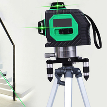 3D 12 Lines Laser Level with Tripod Powerful Beam Red Green Line Self 360 Vertical Horizontal Tools