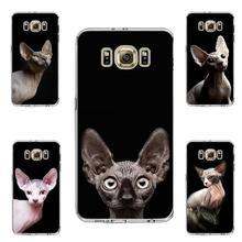 Кошка Сфинкс животных мягкие силиконовые прозрачные чехол для телефона для samsung s6 edge plus s7 edge s8 s9 s10 рlus lite e note8 note9