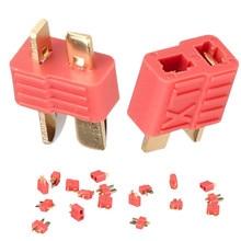 100 คู่ XT ชายหญิง deans สไตล์ Golden grip T plug Anti   skid สำหรับ RC ESC แบตเตอรี่ 40% Off
