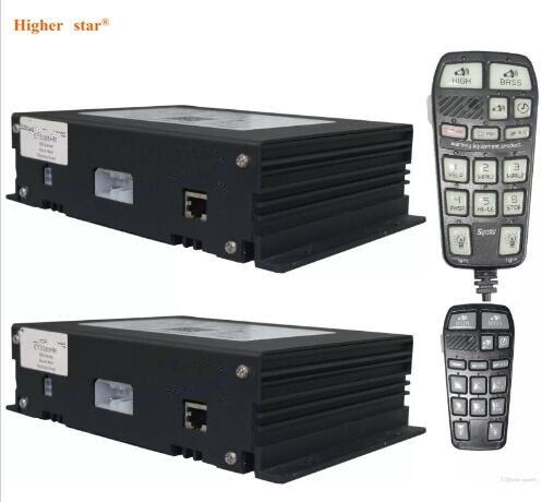 Amplificateurs d'alarme de voiture de sirène de police électronique de la puissance élevée ETSA385HR, 300 W avec le microphone de commande tenu dans la main (haut-parleur de withot)