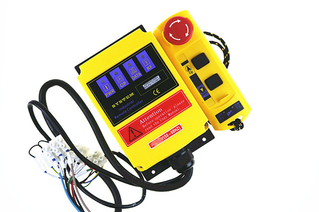 A2HH electric hoist with a direct control type industrial remote control built-in contactor with emergency stop