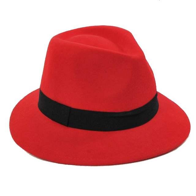 fd1c0d04f8a Online Shop 6pcs Lot COOL Women Winter Wool Felt Fedora Hats Designer  Womens Wool JAZZ Fedoras Caps Ladies Spring Trilby Cap Hat Headgear