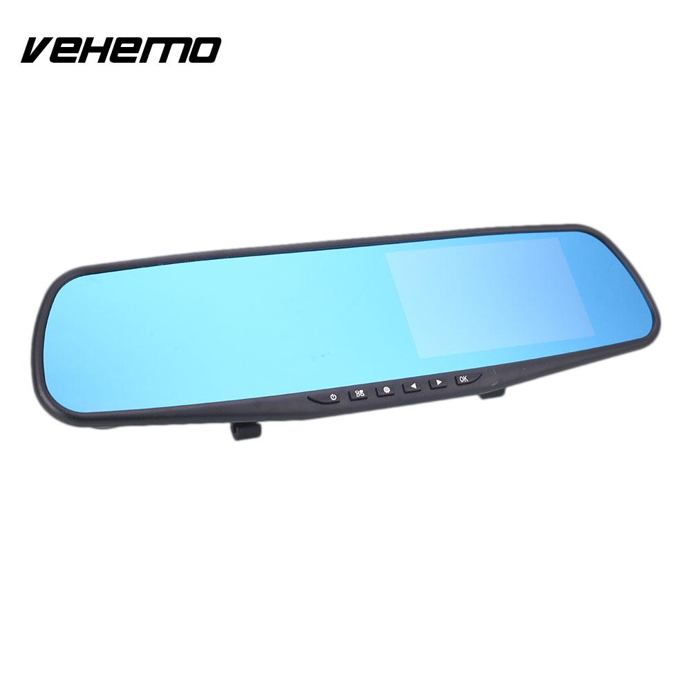 Vehemo 4.3 Inches LED Night Vision Dash Cam Loop Recording Video Recorder Durable Driving Recorder Automobile Camcorder
