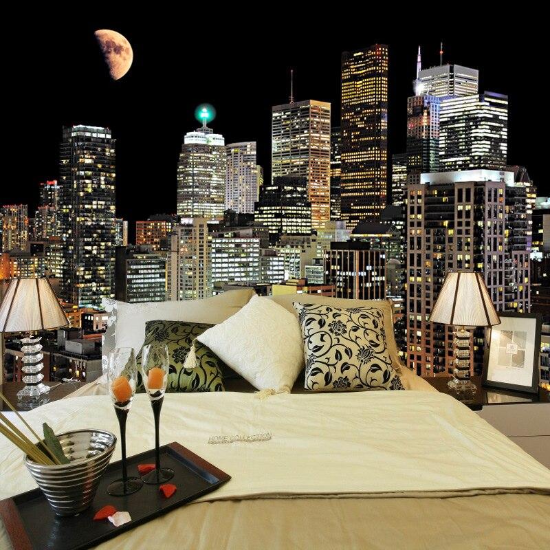 100% Wahr Hohe Qualität Wand Malerei Nach 3d Foto Tapete Für Wohnzimmer Tv Hintergrund Wandbild Tapete Für Schlafzimmer Wände Stadt Nacht
