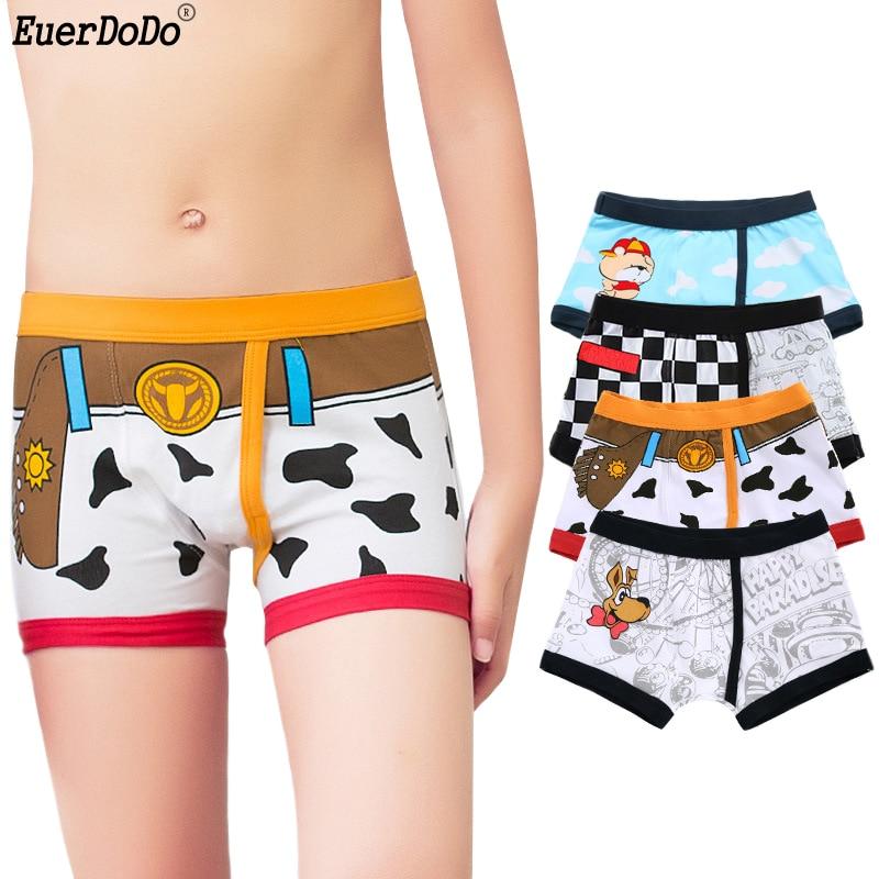 Boys Underwear 4pcs/ Lot For Kids Underwear Boys Boxers Children Panties  Cotton Cartoon Underpants Boy 3 14 Years|Underwear| - AliExpress