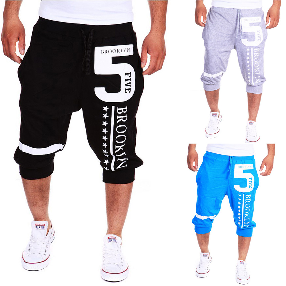 Hot Sell Fashion Summer Leisure Pants Men's Haroun Pants POP Letter 5 Printing  casual pants Cropped Trousers LB