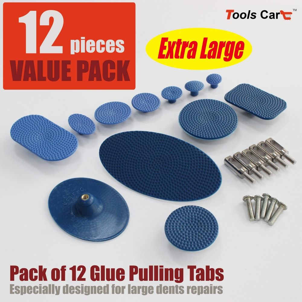 large round square oval blue pdr glue pulling tab set nylon dent tab assorted hail ding removal glue puller pad crease hammer