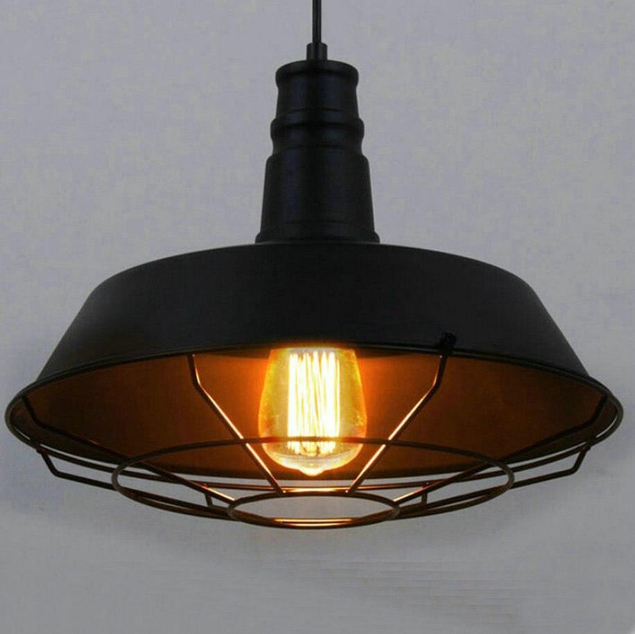loft style d 263646cm vintage industrial pendant lighting led lamp metal hanging