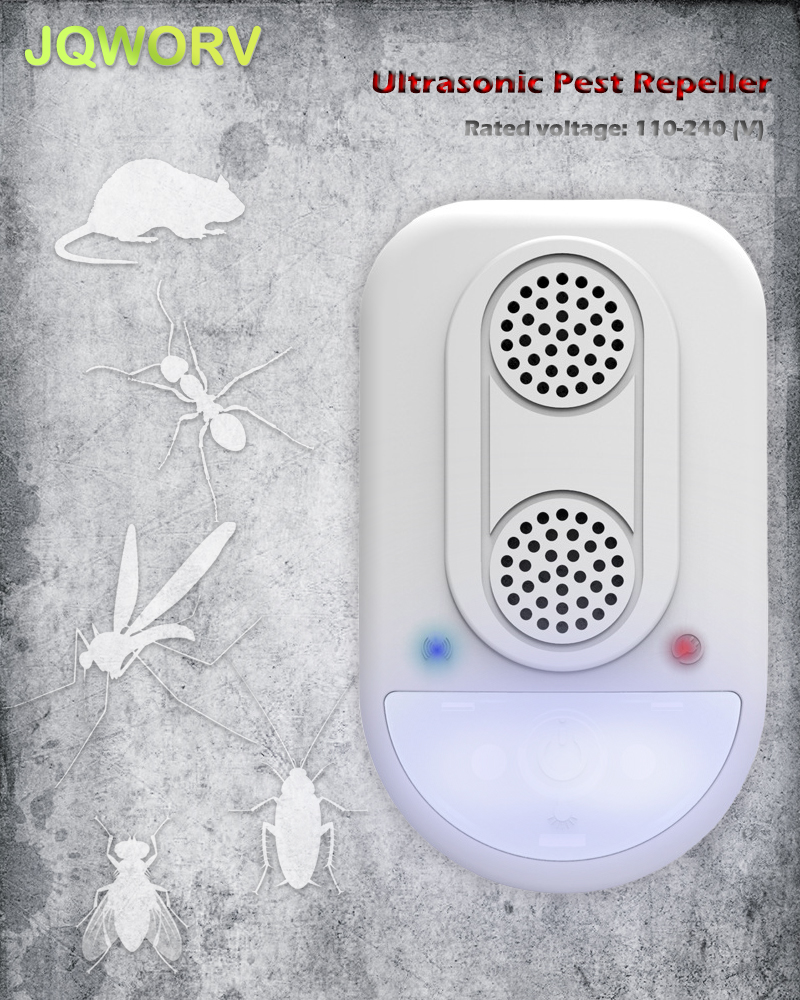 Jqworv Electronic Ultrasonic Pest Repeller Indoor Night Light Insect Repeller Reject Mouse Mosquito Cockroach Fly Pest Control