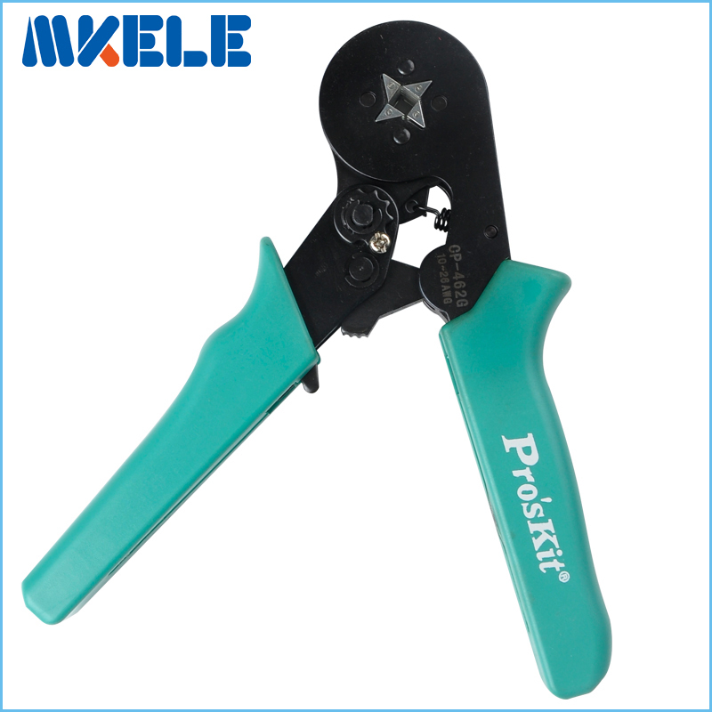 CP-462G Adjustable Square Ferrule Wire Crimpers Wire Ferrule Crimp Tool-Square Crimping Pliers Practical Line Pressing Tool