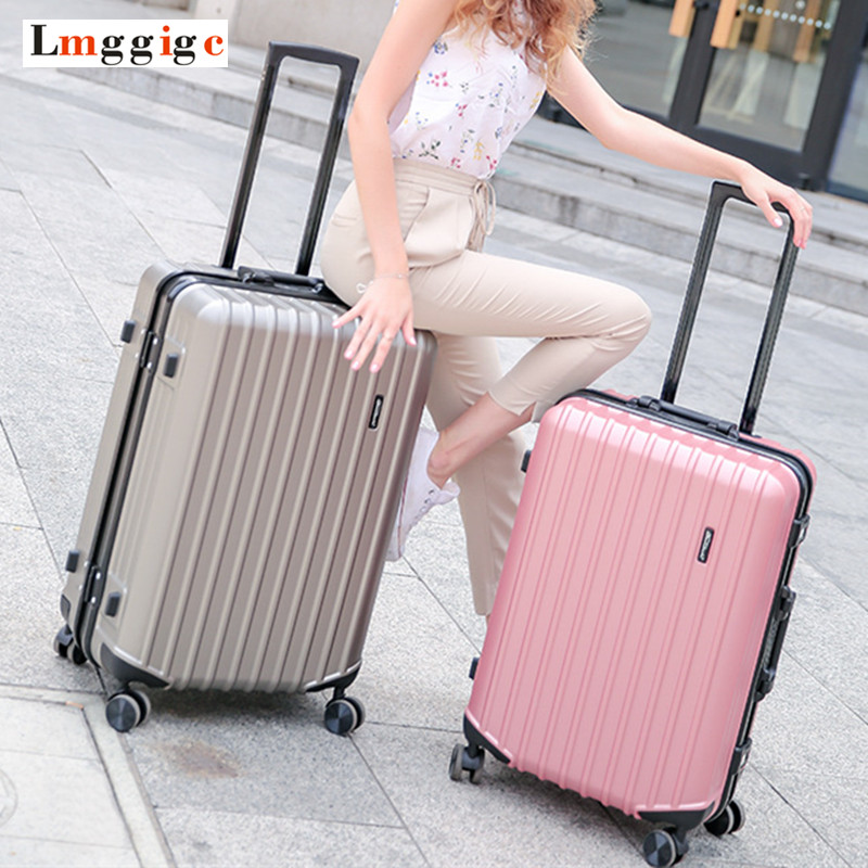 Aluminum frame & Zipper Rolling Suitcase,PC + ABS Travel Luggage Bag ,Universal wheel trip Trolley Case,High quality BoxAluminum frame & Zipper Rolling Suitcase,PC + ABS Travel Luggage Bag ,Universal wheel trip Trolley Case,High quality Box