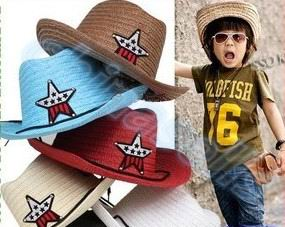 1pcs Child Travel Summer Star Hat Suv Sun Cap West Cowboy Baby Kid Fishing Beach Visor Hat Outdoor Sport Large Brimmed Strawhat Easy To Lubricate