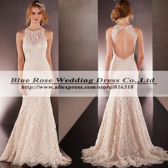 Vestidos de novia en encaje aliexpress