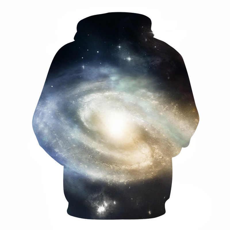 Новый стиль хип-хоп толстовки кофты Galaxy пространство 3D принт осень с капюшоном Для женщин толстовка Bts