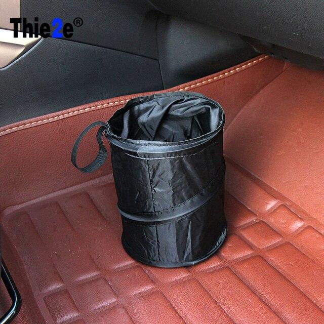 Car Trash Can Bin Garbage 210D Oxford Black Seat Organizer Bags Waterproof Travel Storage Hanging Bag Stowing Tidying Car Bin
