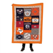 цена на Houston Astros Sherpa Blanket Girly Floral Bedspread Pink Blue Green Velvet Plush Cartoon Beds Blanket mantas