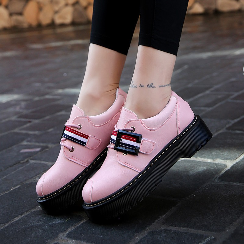 2017 Spring Autumn Platform Women Shoes Patent Leather Lace Up Shoes For Woman Casual Shoes Ladies Flats Zapatos Mujer S151 (23)