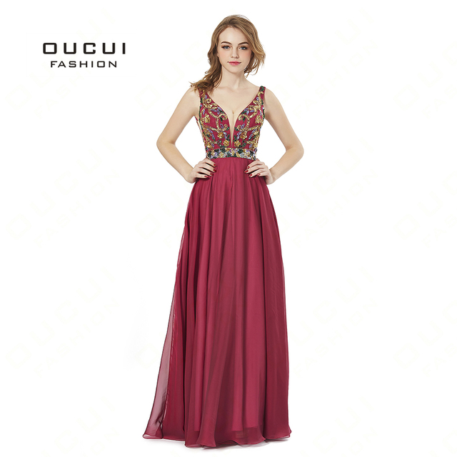 05aa0c6302 Aliexpress.com : Buy Real Photo Red Prom dresses Tulle with Beaded Sequined  Deep V Formal Long Evening Dress Gown BL1820 robe de soiree from Reliable  ...
