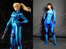 High Quality Tailored METROID Cosplay Costume Spandex Suit Saums Aran Costume Zentai Suit