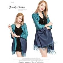 Winter Women Cashmere Scarf Solid Warm Wool Scarves Lady Shawls Pashmina Foulard Tassel Kerchief Long Cotton Scarf Stole Hijab